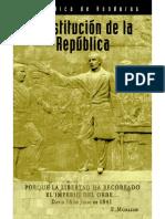 Historia Constitucion de La Republica de Honduras OIM 03Mayo2009
