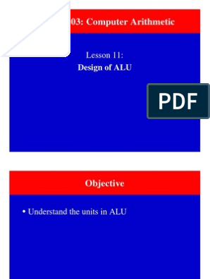 ALU design and operations | Theory Of Computation | Computer
