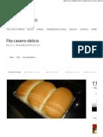 Aninha Receitas – Pão caseiro delícia