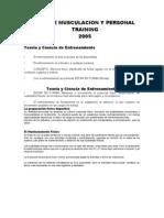CURSO DE MUSCULACION Y PERSONAL TRAINING -teoría del entrenamiento