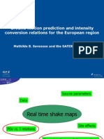 Ground Motion Prediction and Intensity Conversion Relations for the European Region_M.sorensen