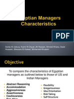 Traits of Egyptian Manager