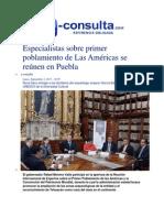 02-09-2013 e-consulta - Especialistas sobre primer poblamiento de Las Américas se reúnen en Puebla