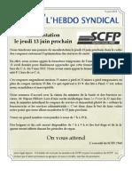 34. l'Hebdo Syndical 6 Juin 2013