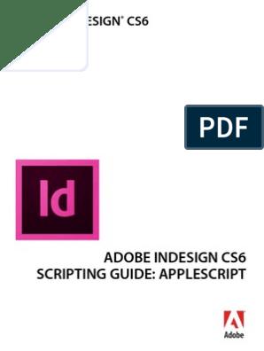 InDesign ScriptingGuide As | Scripting Language | Adobe In