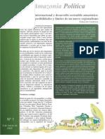 Amazonia política, desarrollo sostenible amazónico