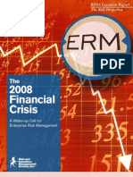 2008 Financial Crisis a Wake Up Call for ERM