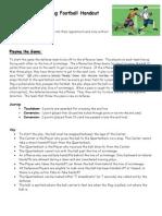 flag football handout