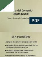 Teoria Del Comercio Internacional Teoria de La Ventaja Comparativa