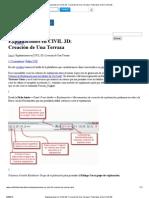 Explanaciones en CIVIL 3D_ Creación de Una Terraza