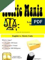 metric mass