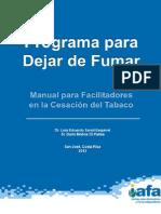 Manual para facilitadores en la cesación del tabaco