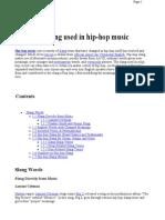 List of Slang Used in Hip-hop Music