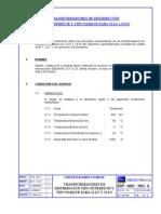 Norma Chilectra 4, TFs Superficie y Parque 12 y 23 kV