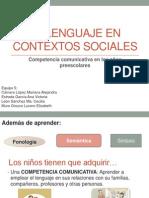 El Lenguaje en Contextos Sociales