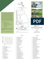 North Creek Park Bird List and Brochure