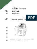 Lanier 5622 5627 Manual de Copiadora AF1022Gen ES OI Copy