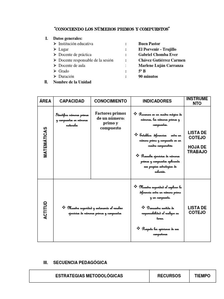 Numeros Primos y Compuestos