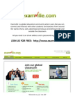 Examville.com - Calculus - Application of Definite Integrals