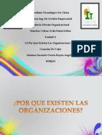 Por Que Existen Las Organizaciones y La Creacion de Valores-reyna