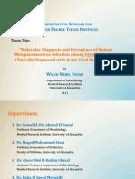Molecular Diagnosis of hMPV