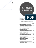 ARM256 M316 OM Key Operators Guide