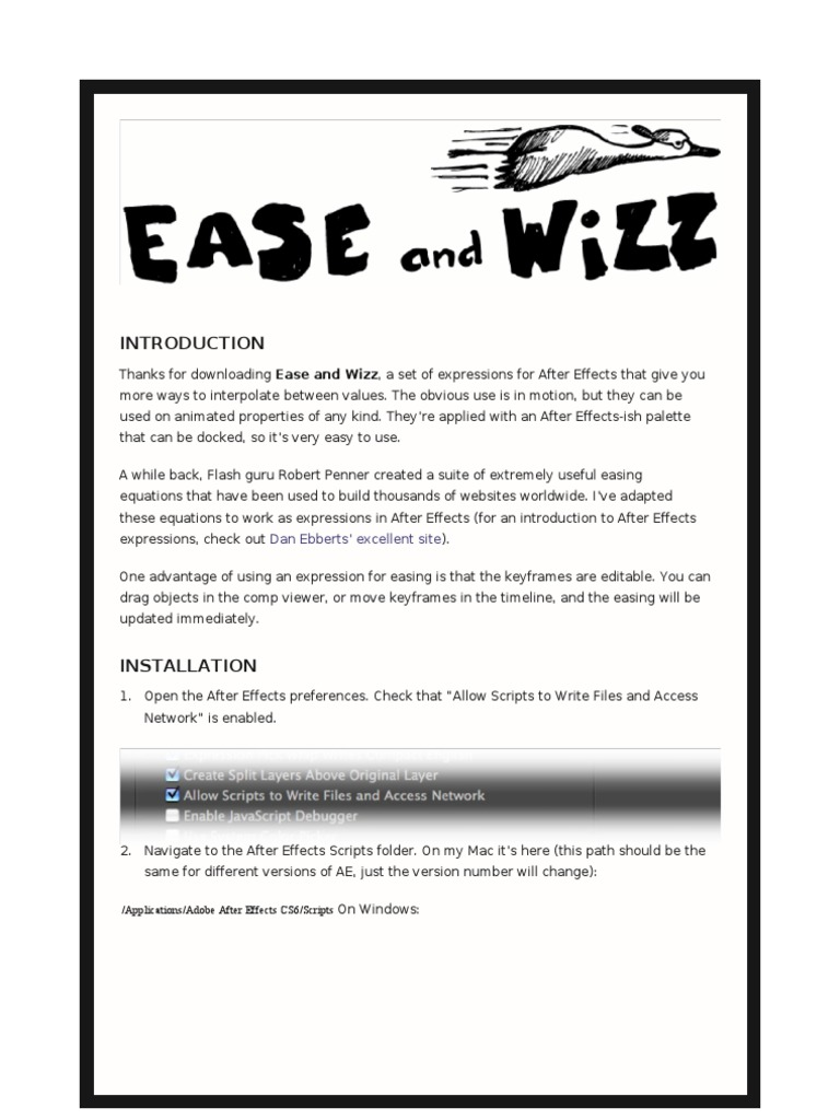 Ease and Wizz 2 0 3 Read Me | Disclaimer | Copyright