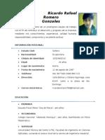 Hoja de Vida Ricardo Romero(1)