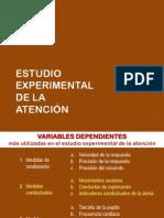 Estudio experimental de la atención
