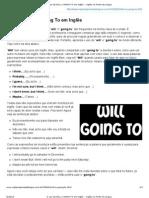 O uso de WILL e GOING TO em Inglês