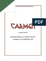 Carmen Libretto French-English