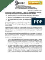 Respuesta Campesina e Indígena al Ier Informe de Gobierno