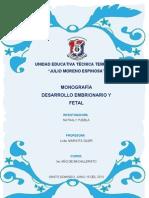 MONOGRAFÍA DESARROLLO EMBRIONARIO Y FETAL