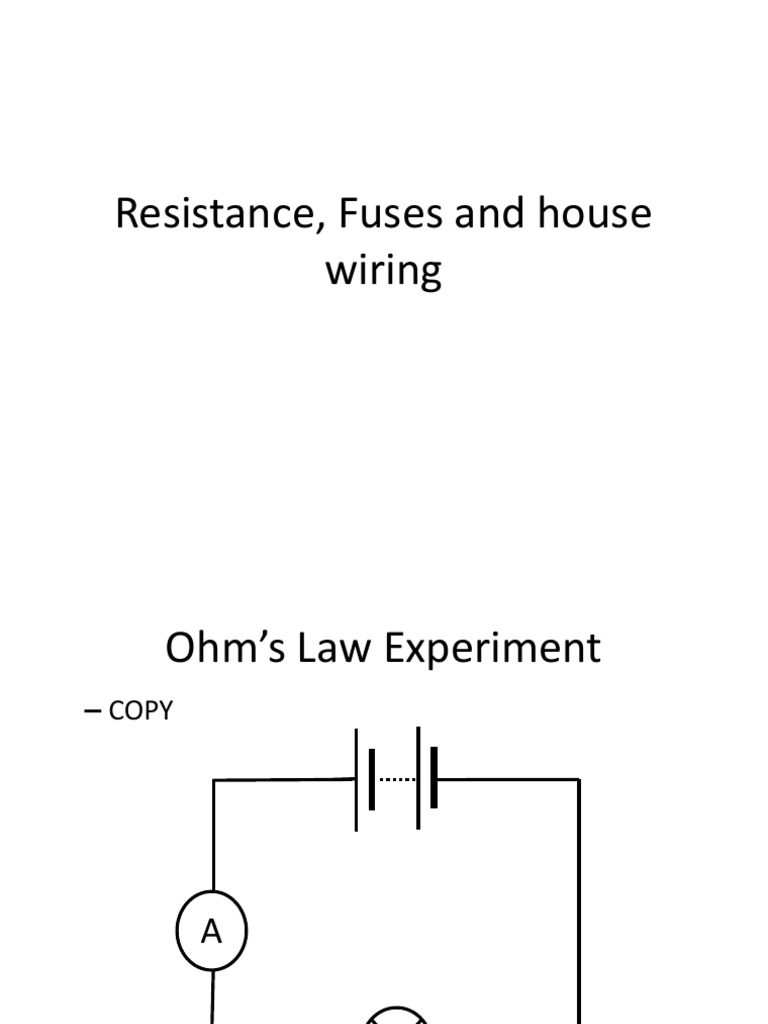 Tremendous Ohms Law Experiment Series And Parallel Circuits Fuse Electrical Wiring 101 Cranwise Assnl