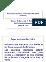 Aspectos Tributarios para la Exportación de Servicios