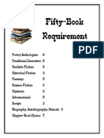 The 50-Book Challenge Requirements and Checklist (by Genre)
