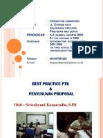 Best Practice Ptk Dan Penyusunan Proposal