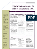 Programaçao Missionaria da IBVJ