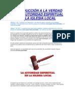 INTRODUCCIÓN A LA VERDAD DE LA AUTORIDAD ESPIRITUAL EN LA IGLESIA LOCAL.docx