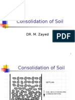 Consolidation of Soil