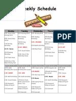 Weekly Schedule 2013