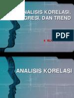 Analisis Korelasi Regresi Dan Trend