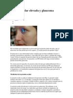 Presión ocular elevada y glaucoma