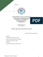 Informe Del Proyecto Programacion