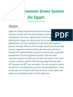 A New Economic Green System for Egypt.