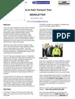 Safer Transport Team Newsletter