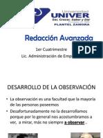 Desarrollo de la Observación