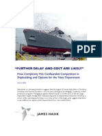 How Complexity Has Confounded Competition in Shipbuilding, And Options for the Navy Department