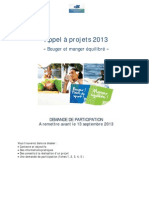 Appel a Projets 2013