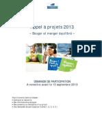 Appel a Projets 2013